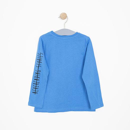 Erkek Çocuk Uzun Kol Tişört Açık Mavi (3-12 yaş)