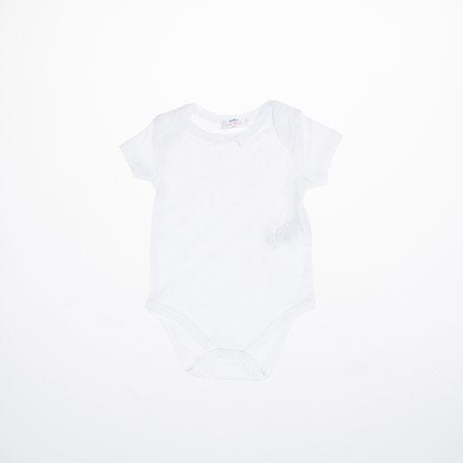 Kız Bebek Kısa Kol Body Beyaz (3-15 ay)