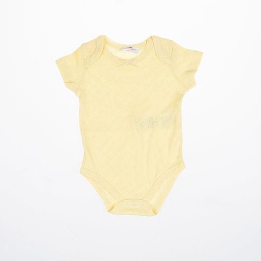 Kız Bebek Kısa Kol Body Sarı (3-15 ay)