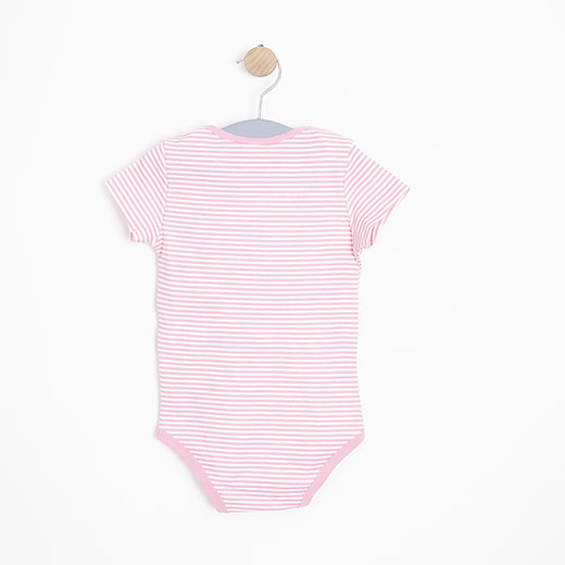 Kız Bebek Kısa Kol Badi Pembe (12-24 ay)