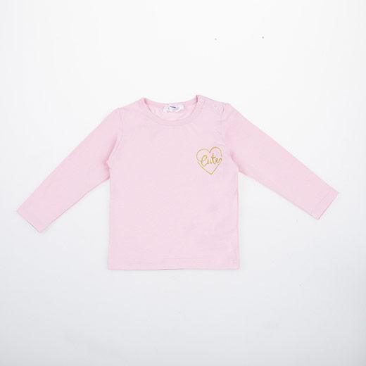 Kız Bebek Uzun Kol Tişört Pembe (3-24 ay)