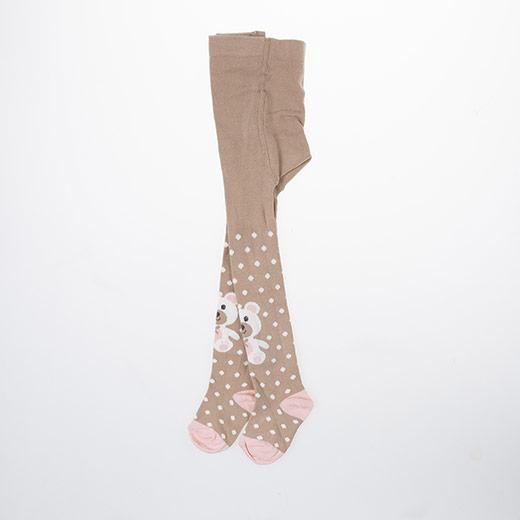 Yenidoğan Kız Külotlu Çorap Kahve (15-22 numara)