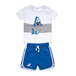 Erkek Bebek Alt Üst Örme Set Beyaz (12-24 ay)