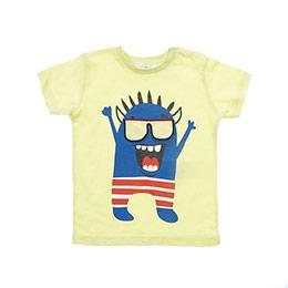 Erkek Bebek Alt Üst Örme Set Neon Sarı (12-24 ay)