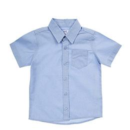 Erkek Bebek Kısa Kol Gömlek Mavi (12-24 ay)