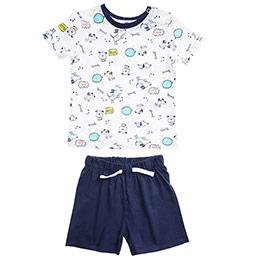 Erkek Bebek Pijama Takımı Lacivert (12-24 ay)