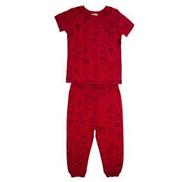 Erkek Bebek Pijama Takımı Kırmızı (12-24 ay)