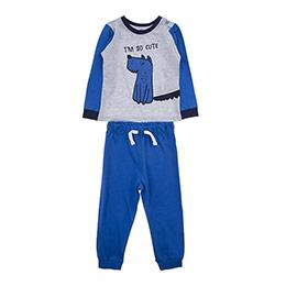 Erkek Bebek Pijama Takımı Saks (12-24 ay)