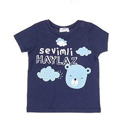 Erkek Bebek Tişört Lacivert (12-24 ay)