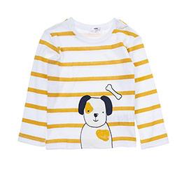 Erkek Bebek Tişört Kırık Beyaz (12-24 ay)