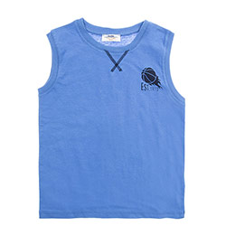 Erkek Çocuk Atlet Mavi (3-7 Yaş)