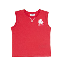 Erkek Çocuk Atlet Kırmızı (3-7 Yaş)
