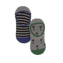 Erkek Çocuk 2li Babet Çorap Gri (23-34 numara)