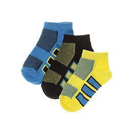 Erkek Çocuk 3lü Patik Çorap Siyah (23-34 numara)