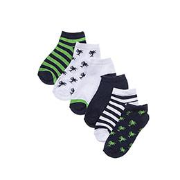 Erkek Çocuk 7li Patik Çorap Gri Melanj (23-34 numara)