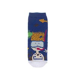 Erkek Çocuk Soket Çorap Saks (23-34 numara)
