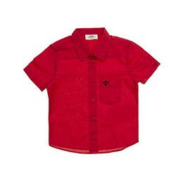Erkek Çocuk Gömlek Kırmızı (3-7 Yaş)