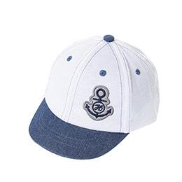 Erkek Çocuk Kep Şapka Beyaz (1-3 Yaş)