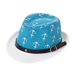 Erkek Çocuk Hasır Şapka Mavi (3-7 Yaş)