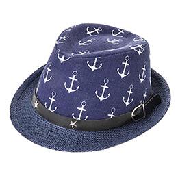 Erkek Çocuk Hasır Şapka Lacivert (3-7 Yaş)