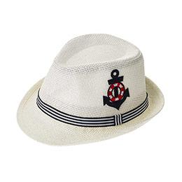 Erkek Çocuk Hasır Şapka Krem (3-7 Yaş)
