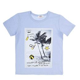 Erkek Çocuk Tişört Açık Mavi (3-7 Yaş)