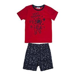 Erkek Çocuk Pijama Takımı Kırmızı (3-7 Yaş)