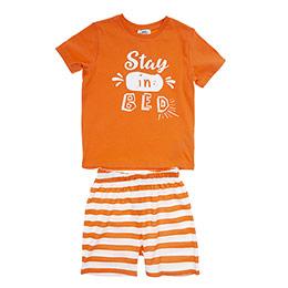 Erkek Çocuk Pijama Takımı Turuncu (3-7 Yaş)