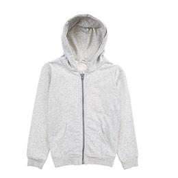 Genç Erkek Sweatshirt Gri Melanj (8-12 Yaş)