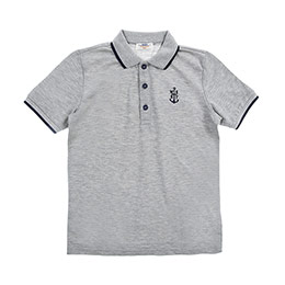 Genç Erkek Tişört Gri Melanj (8-12 Yaş)