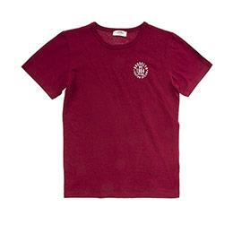 Genç Erkek Kısa Kol T Shirt Bordo 8Y