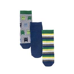 Erkek Bebek 3lü Soket Çorap Lacivert (14-22 numara)