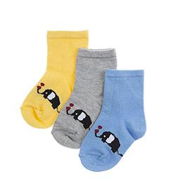 Erkek Bebek 3lü Soket Çorap Gri (14-22 numara)