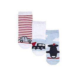 Erkek Bebek 3lü Soket Çorap Beyaz (14-22 numara)