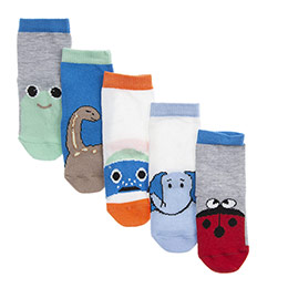 Erkek Bebek 5li Soket Çorap Beyaz (14-22 numara)