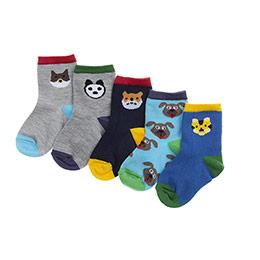 Erkek Bebek 5li Soket Çorap Mix (14-22 numara)