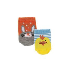 Erkek Bebek 2li Patik Çorap Turuncu  (14-22 numara)