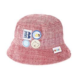 Erkek Bebek Fötr Şapka Kırmızı (0-24 ay)