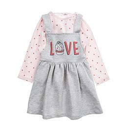 Kız Bebek Alt Üst Örme Set Somon (12-24 ay)