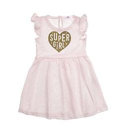 Kız Bebek Elbise Pudra (12-24 ay)