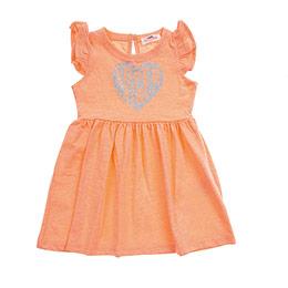 Kız Bebek Elbise Neon Turuncu (12-24 ay)