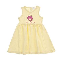 Kız Bebek Elbise Açık Sarı (12-24 ay)