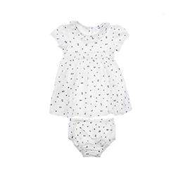Kız Bebek Elbise Ekru (12-24 ay)