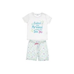 Kız Bebek Pijama Takımı Ekru (12-24 ay)