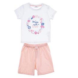 Kız Bebek Pijama Takımı Beyaz (12-24 ay)