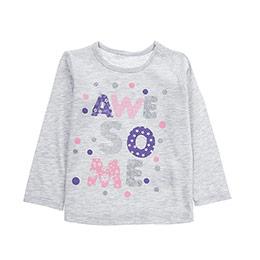 Kız Bebek Tişört Gri Melanj (12-24 ay)
