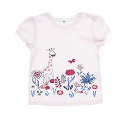 Kız Bebek Tişört Somon (12-24 ay)