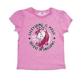 Kız Bebek Tişört Pembe (12-24 ay)