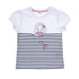 Kız Bebek Tişört Beyaz (12-24 ay)