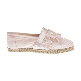 Kız Çocuk Keten Ayakkabı Pembe (28-35 numara)